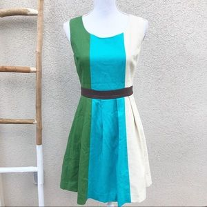 Anthropologie Tabitha color block dress
